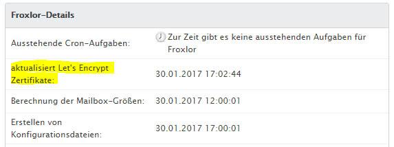 SSL kostenlos mit Froxlor und Let\'s Encrypt